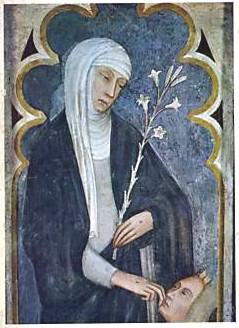 Fresco of St. Catherine of Siena from San Domenico Church in Siena